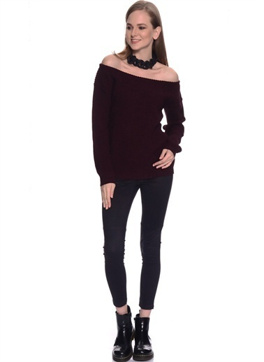 Missguided Missguided Bordo  Bluz Bordo